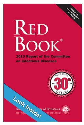american academy of pediatrics. red book 2012 report of the committee on infectious diseases American academy of pediatrics toxoplasma gondii infections (toxoplasmosis) in: red book: 2012 report of the committee on infectious diseases 29th, pickering lk(ed), american academy of pediatrics, elk grove village, ill 2012 p720.